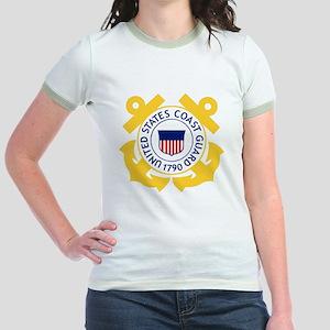 USCG-Emblem Jr. Ringer T-Shirt