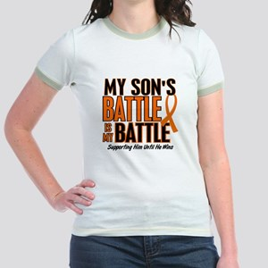 My Battle Too (Son) Orange Jr. Ringer T-Shirt