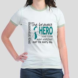 Bravest Hero I Knew Cervical Cancer Jr. Ringer T-S