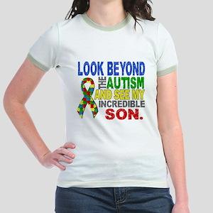 Look Beyond 2 Autism Son Jr. Ringer T-Shirt