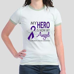 Alzheimers Hero Now My Angel Jr. Ringer T-Shirt