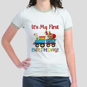 first birthday train Jr. Ringer T-Shirt