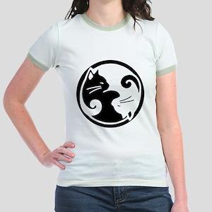 yin-yang-cat Jr. Ringer T-Shirt