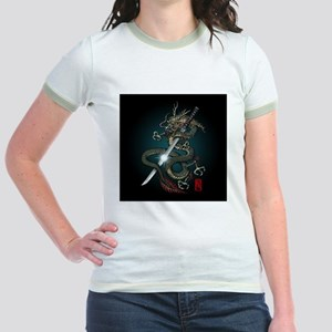 Dragon Katana01 Jr. Ringer T-Shirt