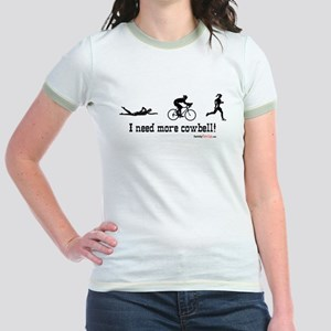 I need more cowbell triathlon Jr. Ringer T-Shirt