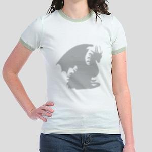 Dragon silhouette shower curtai Jr. Ringer T-Shirt