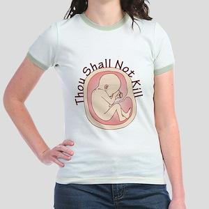Thou Shall Not Kill Jr. Ringer T-Shirt
