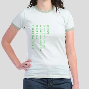 Think Green Transparent Jr. Ringer T-Shirt