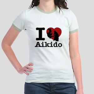 Aikido Heart Designs Jr. Ringer T-Shirt