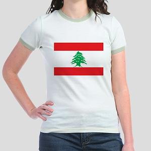 Flag of Lebanon Jr. Ringer T-Shirt