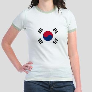 Flag of South Korea Jr. Ringer T-Shirt