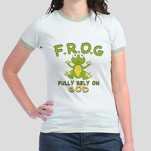 Fully Rely On God Jr. Ringer T-Shirt