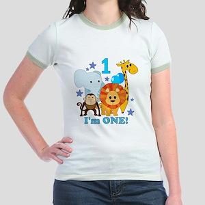 baby1JungleAnimals Jr. Ringer T-Shirt