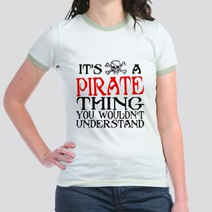 PIRATE_THING2 Jr. Ringer T-Shirt