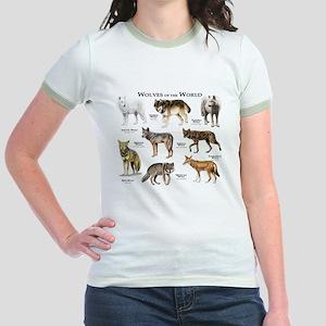 Wolves of the World Jr. Ringer T-Shirt