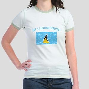 St Lucian Pride Jr. Ringer T-Shirt