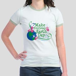Make Everyday Earth Day Jr. Ringer T-Shirt