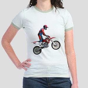 Helaine's Dirt Cycle Jr. Ringer T-Shirt