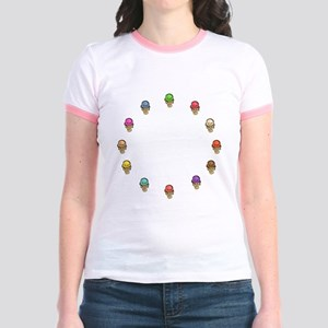 ice cream circle Jr. Ringer T-Shirt