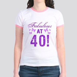 Fabulous 40th Birthday Jr. Ringer T-Shirt
