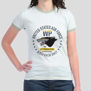 USAF Wolf Pack 8th Fighter Wing Jr. Ringer T-Shirt