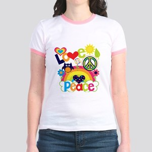 Love and Peace Jr. Ringer T-Shirt
