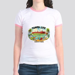Tampa Life Vintage Cigar Ad Jr. Ringer T-Shirt