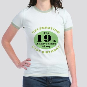 Funny 40th Birthday Jr. Ringer T-Shirt