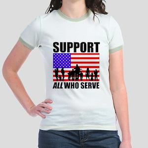 Support ALL Lt Jr. Ringer T-Shirt