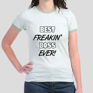 Best Freakin' Boss Ever Jr. Ringer T-Shirt