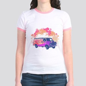 Retro Hippie Van Grunge Style Jr. Ringer T-Shirt