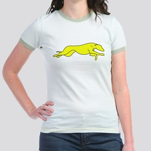 Greyhound Outline multi color Jr. Ringer T-Shirt