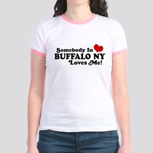 Somebody In Buffalo NY Loves Me Jr. Ringer T-Shirt