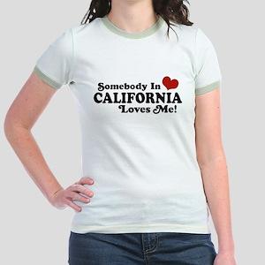 Somebody in California Loves Me Jr. Ringer T-Shirt