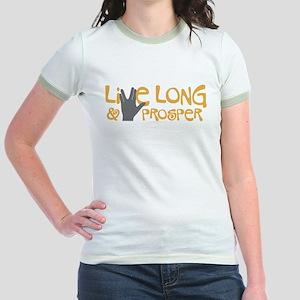 Live Long & Prosper Jr. Ringer T-Shirt