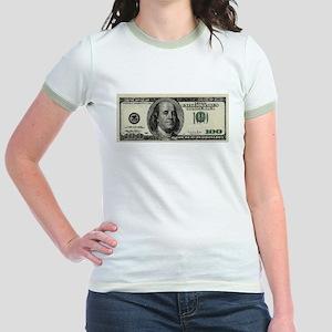 100 Dollar Bill Jr. Ringer T-Shirt