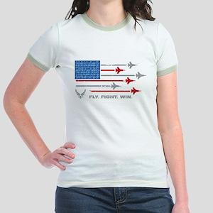 USAF Fly Fight Win Jr. Ringer T-Shirt