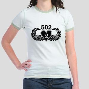 2-502 Black Heart Jr. Ringer T-Shirt