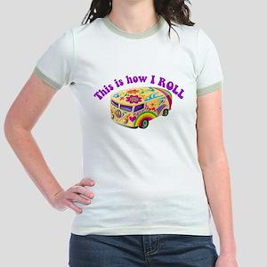How I Roll (Hippie Van) Jr. Ringer T-Shirt