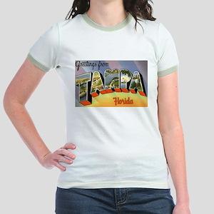 Tampa Florida Greetings (Front) Jr. Ringer T-Shirt
