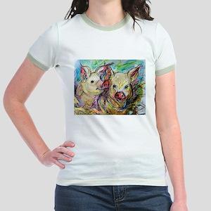 Pig, Couple, Cute, Jr. Ringer T-Shirt