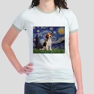 Starry Night / Beagle Jr. Ringer T-Shirt