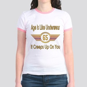 Funny 65th Birthday Jr. Ringer T-Shirt
