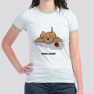Chillaxin' Dog Jr. Ringer T-Shirt