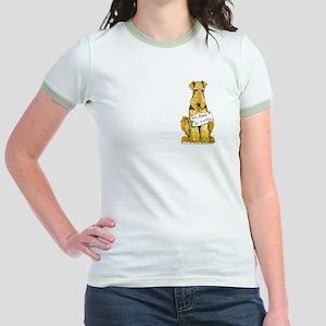 Airedale Terrier Bark for Food Jr. Ringer T-Shirt