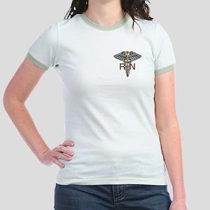 RN Medical Symbol Jr. Ringer T-Shirt