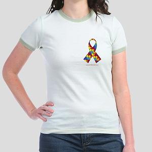 2 Sided Autism Jr. Ringer T-Shirt