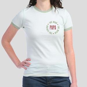 Papa Man Myth Legend Jr. Ringer T-Shirt