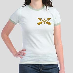 3rd Bn 7th SFG Branch wo Txt Jr. Ringer T-Shirt
