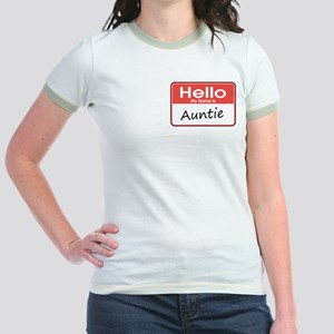 Hello, My Name is Auntie Jr. Ringer T-Shirt